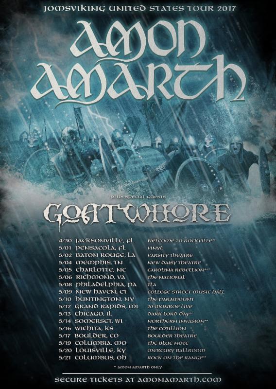 Amon Amarth Goatwhore US Tour