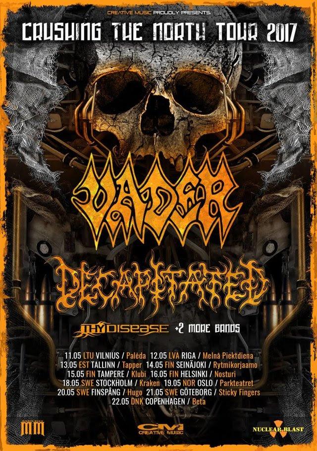 Vader Decapitated tour